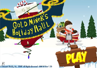 christmas gold miner game